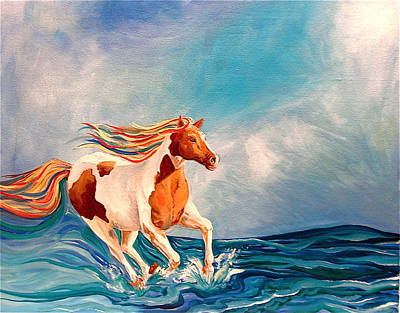 Water Horse Art Print by Rebecca Robinson