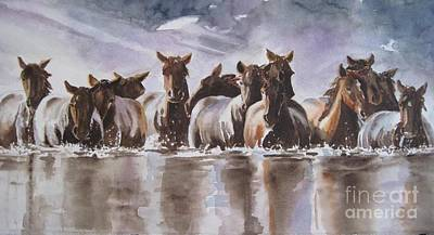 Painting - Water Horses by Paula Marsh