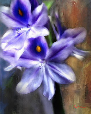 Digital Art - Water Hyacinth by Fred Baird
