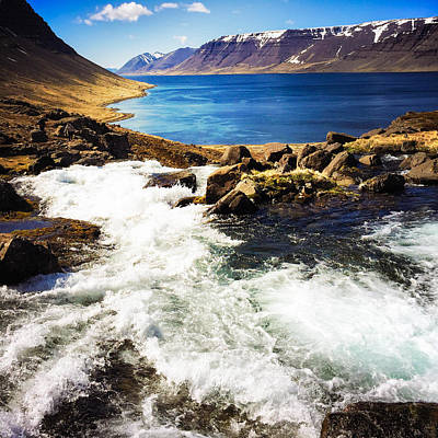 Landscapes Wall Art - Photograph - Water In Iceland - Beautiful West Fjords by Matthias Hauser
