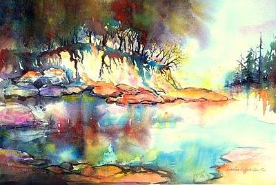 Painting - Water Inlet by Caroline Patrick