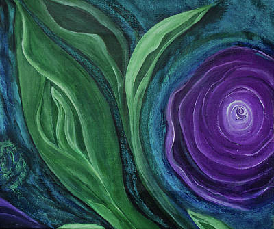 Painting -  Water Iris Tr Part 2 by Rae Ann  M Garrett