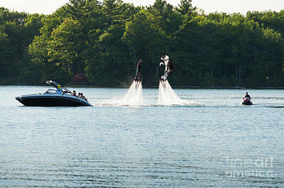 Photograph - Water Jet Packs by Les Palenik