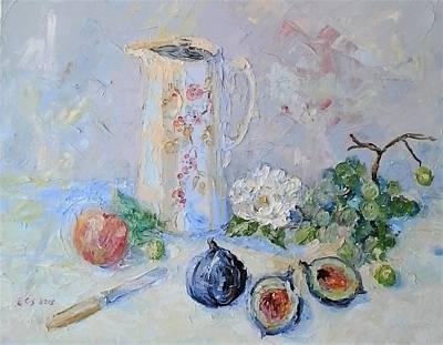 Water Jug, Camellia And Fruit Original
