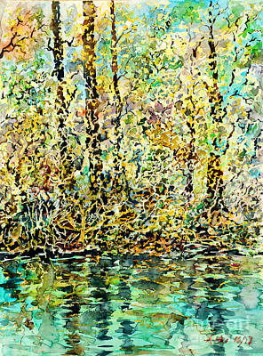 Painting - Water Kissing Land by Almo M