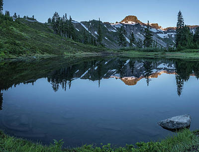 Designs In Nature Photograph - Water Like Mirror by Jon Glaser