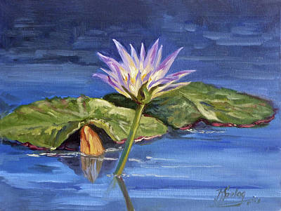 Painting - Water Lilie - Morning by Irek Szelag
