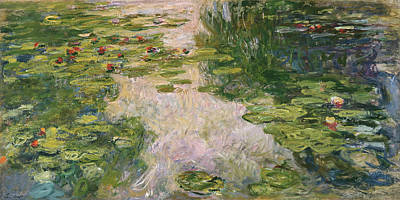 Lilies Painting - Water Lilies 1919 by Claude Monet