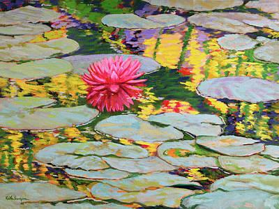 Water Lilies 3 Original by Keith Burgess