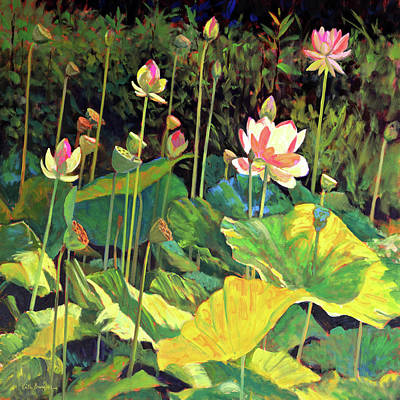 Water Lilies 4 Original by Keith Burgess