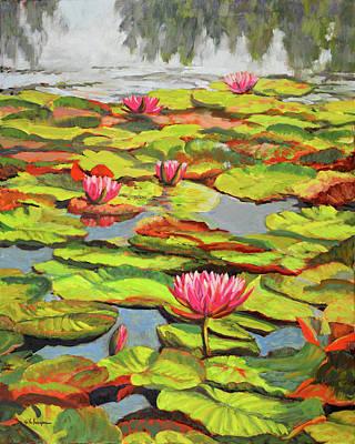 Water Lilies 5 Original by Keith Burgess