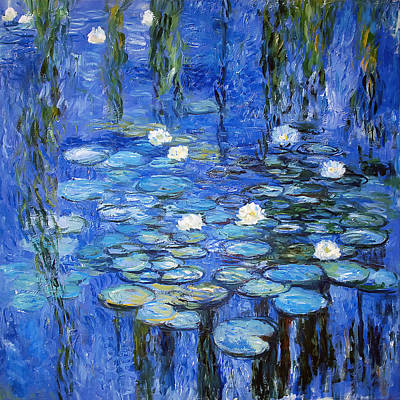 White Water Lilies Photograph - water lilies a la Monet by Joachim G Pinkawa