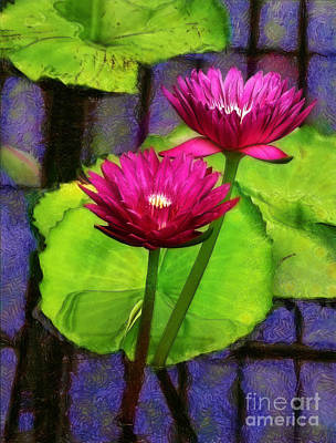 Photograph - Water Lilies At Kew by Judi Bagwell