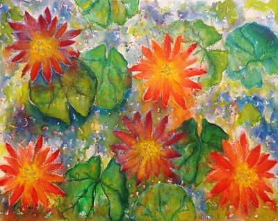 Painting - Water Lilies by Barb Toland