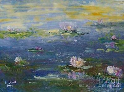 Painting - Water Lilies - Blue by Marlene Book