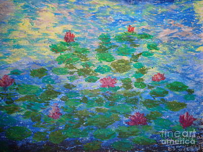 Painting - Water Lilies by Chitra Helkar