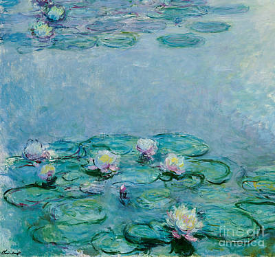 Lilly Pond Painting - Water Lilies by Claude Monet
