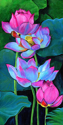 Painting - Water Lilies by Debbie Brown