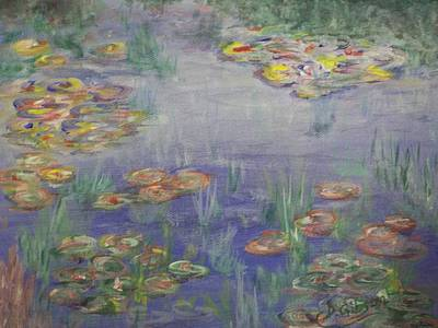 Painting - Water Lilies by Dianne Scheerer Gibson