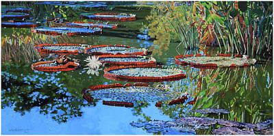 Painting - Water Lilies For Amelia by John Lautermilch