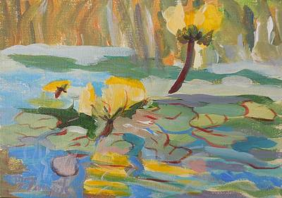 Painting - Water Lilies by Francine Frank