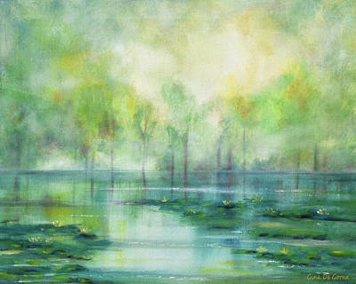 Painting - Water Lilies by Gina De Gorna