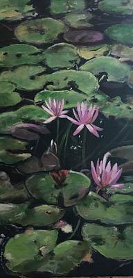 Painting - Water Lilies by Gloria Smith