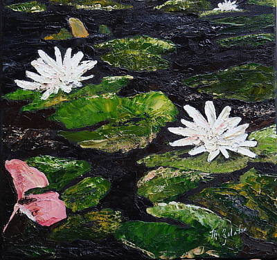 Painting - Water Lilies I by Marilyn Zalatan
