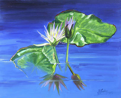 Painting - Water Lilies In Blue by Irek Szelag