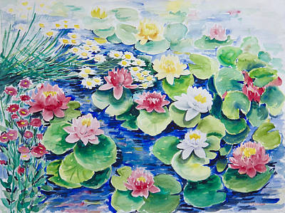 Painting - Water Lilies by Ingrid Dohm