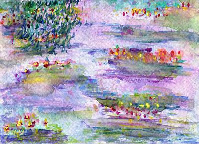 Water Lilies Art Print by Janpen Sherwood