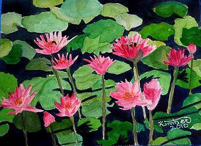 Painting - Water Lilies by Kimber  Butler