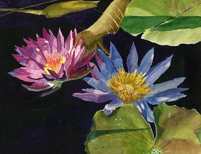 Painting - Water Lilies by Lynne Reichhart
