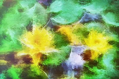 Painting - Water Lilies by Mark Taylor