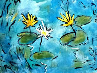 Painting - Water Lilies by Nikki Dalton