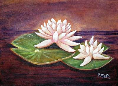 Art Print featuring the painting Water Lilies by Patricia Piffath