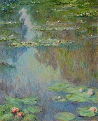 Painting -  Water Lilies  by Pierre Van Dijk