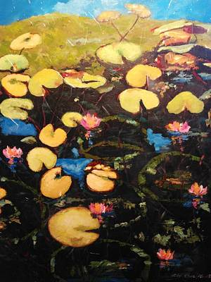 Painting - Water Lilies by Ray Khalife