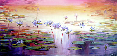 Painting - Water Lilies by Samiran Sarkar