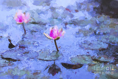 Impressionism Photos - Water lilies by Sheila Smart Fine Art Photography