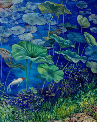 Lilly Pond Painting - Water Lilies by Vickie Lucas