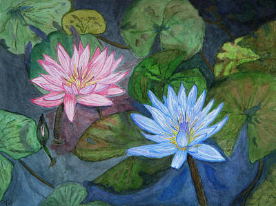 Painting - Water Lilies by Yvonne Johnstone