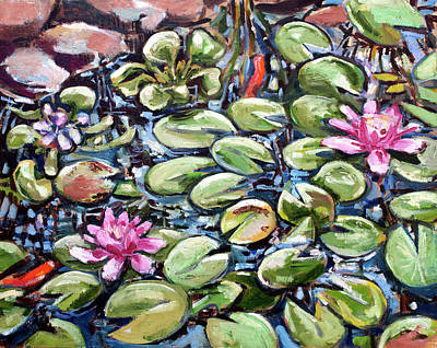 Painting - Water Lillies  by Ann Heideman
