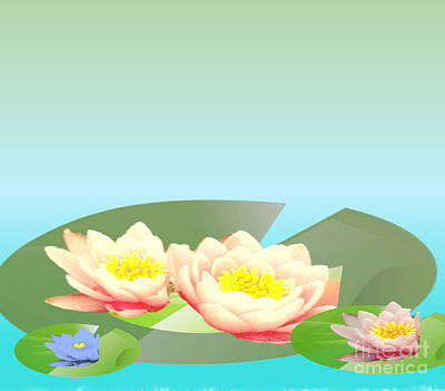 Painting - Water Lillies by Belinda Threeths