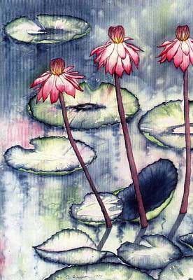 Painting - Water Lillies by Catherine Wilson