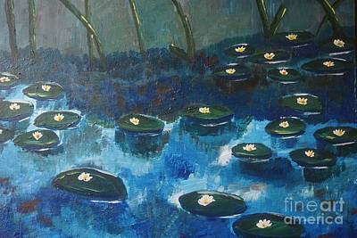 Painting - Water Lillies by Jimmy Clark