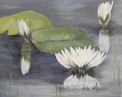 Painting - Water Lillies by Shirley Lawing