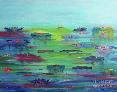 Painting - Water Lillies by Stacey Zimmerman