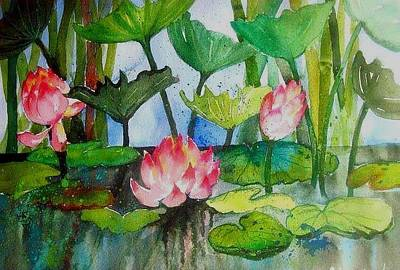Painting - Water Lillies Two by Esther Woods