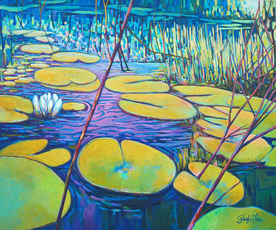 Painting - Water Lilly by Glenford John